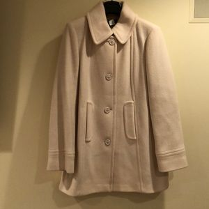 NWOT J Crew cream wool dress coat